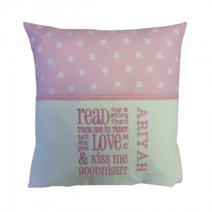 Pink Star Reading Cushion