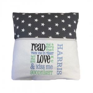 Dark Grey Star Reading Cushion