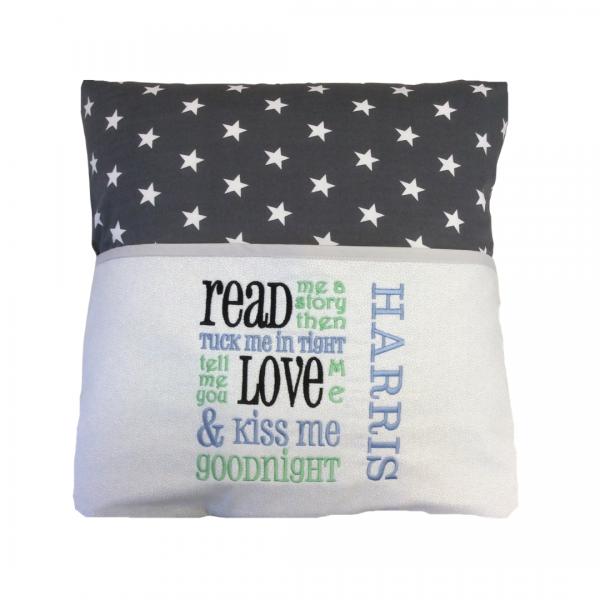 Dark Grey Star Reading Cushion