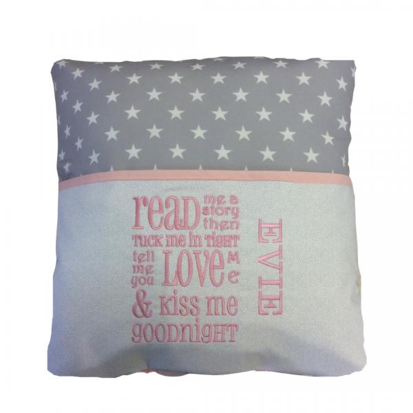 Grey Star Pink Reading Cushion